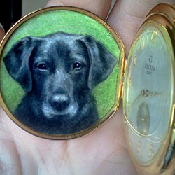 Pet Portrait on a pocket watch