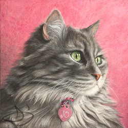 Cat Painting of Jo from Kansas