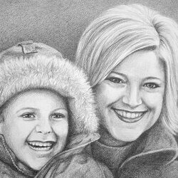Family Portrait Drawing