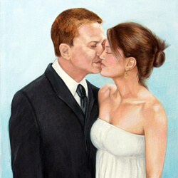 Painting from a wedding photo